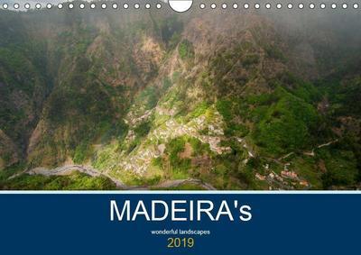 MADEIRA's wonderful landscapes (Wall Calendar 2019 DIN A4 Landscape)