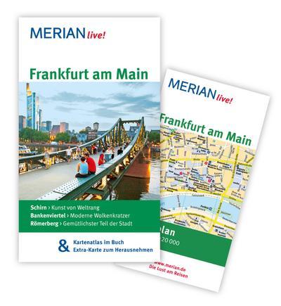 Frankfurt am Main: MERIAN live! - Mit Kartenatlas im Buch und Extra-Karte zum Herausnehmen