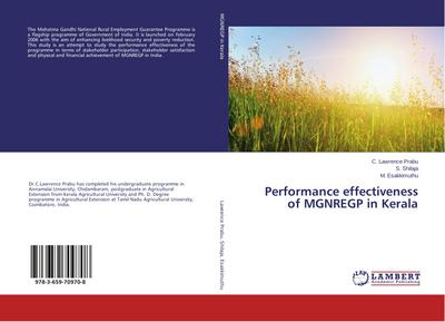 Performance effectiveness of MGNREGP in Kerala