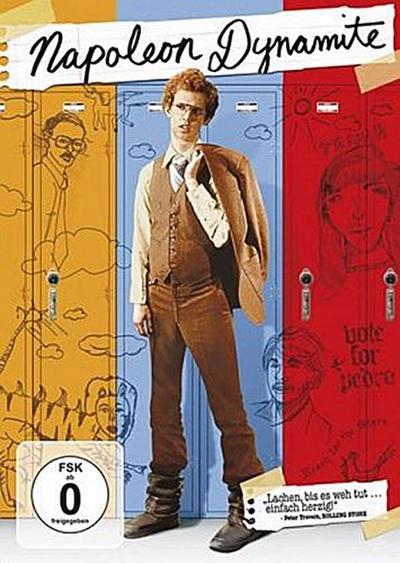 Napoleon Dynamite, 1 DVDs, deutsche, englische u. spanische Version
