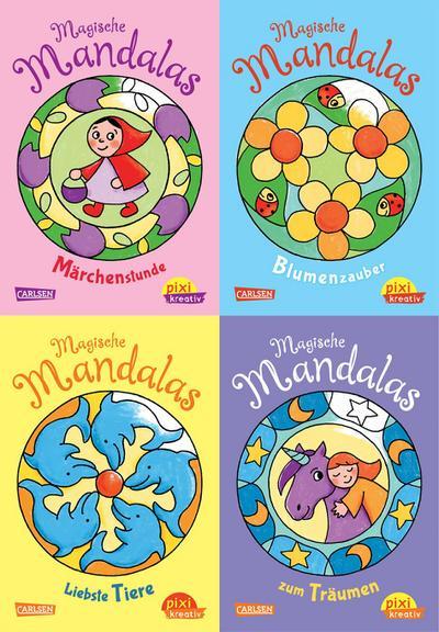 Pixi kreativ Serie Nr. 16: 4er Bundle: Mandalas zum Malen und Träumen