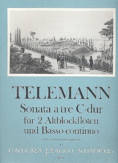 Triosonate C-Dur Nr.55 : für 2 Altblockflöten und Bc von Georg Philipp Telemann