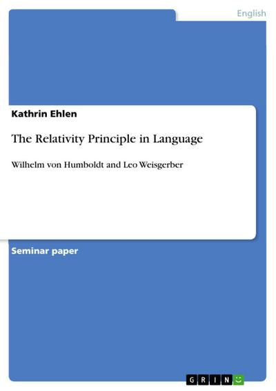 The Relativity Principle in Language