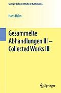Gesammelte Abhandlungen III - Collected Works III