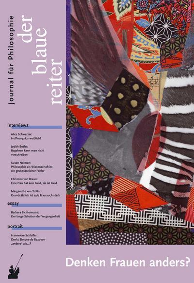 Der blaue reiter, Journal für Philosophie Denken Frauen anders?