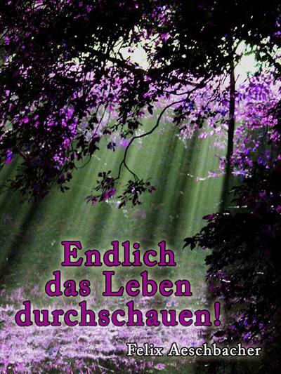 Endlich das Leben durchschauen - Hierophant Verlag - , Deutsch, Felix Aeschbacher, ,