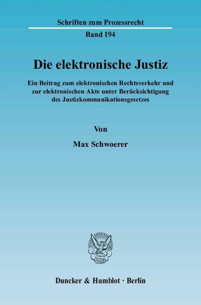 Die elektronische Justiz