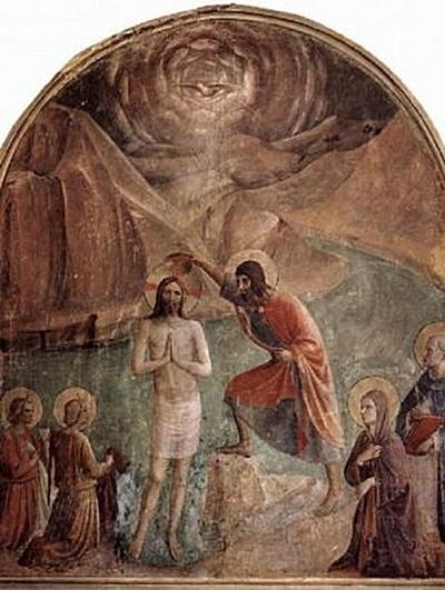 Fra Angelico-Freskenzyklus im Dominikanerkloster San Marco in Florenz, Taufe Christi durch Johannes - 200 Teile (Puzzle)