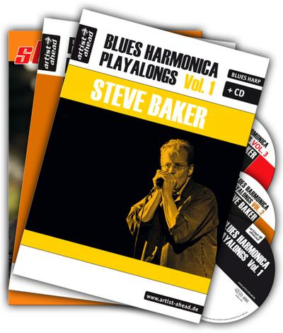Blues Harmonica Playalongs Vol. 1-3 im Set, drei Bücher & drei CDs