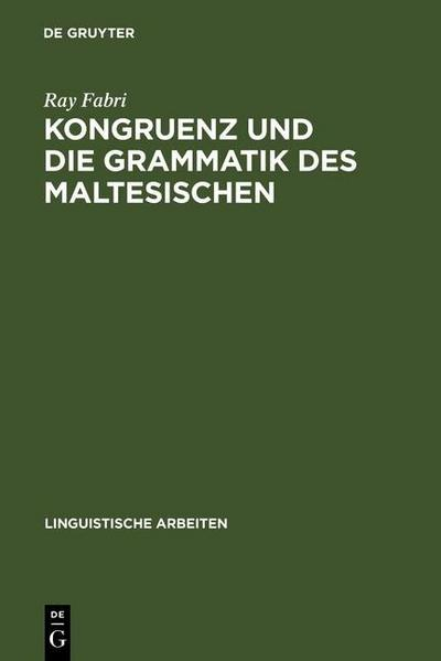 Kongruenz und die Grammatik des Maltesischen