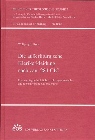 Die außerliturgische Klerikerkleidung nach ca. 284 CIC