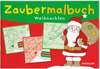 Zaubermalbuch Weihnachten; Ein magischer Spiel-Spaß ab 3 Jahren; Malbücher und -blöcke; Ill. v. Schmidt, Sandra; Deutsch; schw.-weiss
