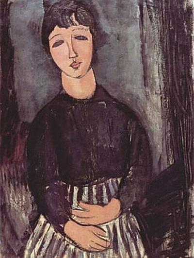 Amadeo Modigliani - Porträt einer Zofe - 1.000 Teile (Puzzle)