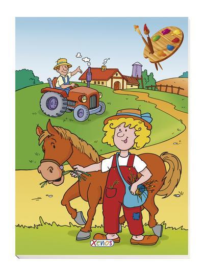 Malbuch Bauernhof: Pferd: 0