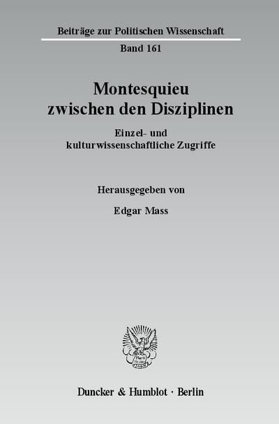 Montesquieu zwischen den Disziplinen.