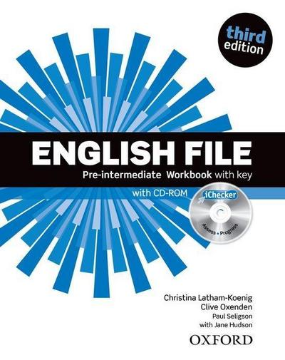 English File, Pre-Intermediate, Third Edition Workbook with key and CD-ROM iChecker
