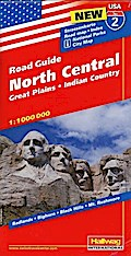Hallwag USA Road Guide 02 North Central 1 : 1.000.000