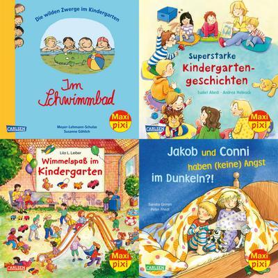 Maxi-Pixi Serie Nr. 72: 4er Bundle: Im Kindergarten (4x1 Exemplar)