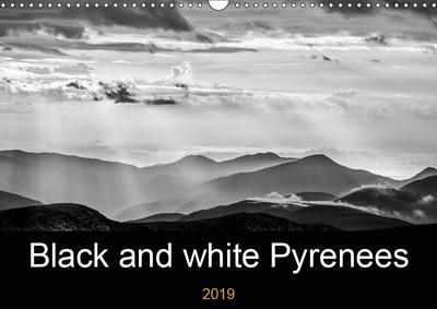 Black and white Pyrenees (Wall Calendar 2019 DIN A3 Landscape)