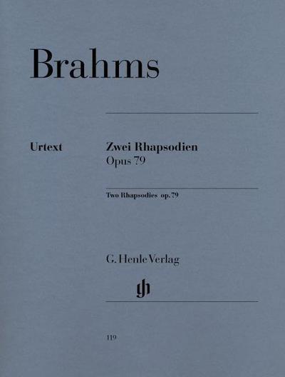2 Rhapsodien op. 79. Klavier