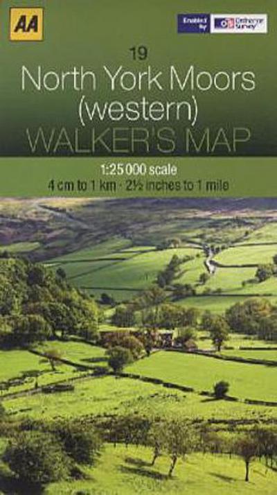 Walker's Map 19 North York Moors 1 : 25 000