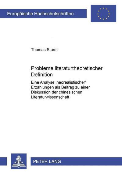 Probleme literaturtheoretischer Definition