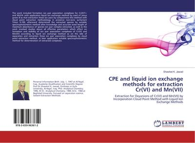 CPE and liquid ion exchange methods for extraction Cr(VI) and Mn(VII)