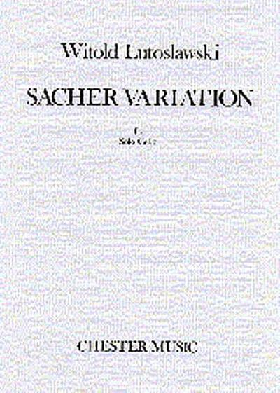 Sacher Variations : for violoncellosolo
