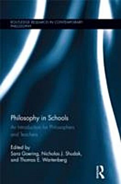 Philosophy in Schools