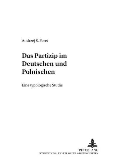 Das Partizip im Deutschen und Polnischen