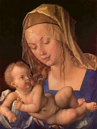 Albrecht Dürer - Die Madonna mit der Birnenschnitte - 200 Teile (Puzzle)