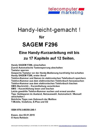 Sagem F296-leicht-gemacht