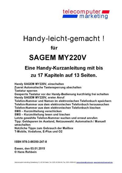 Sagem my220V-leicht-gemacht