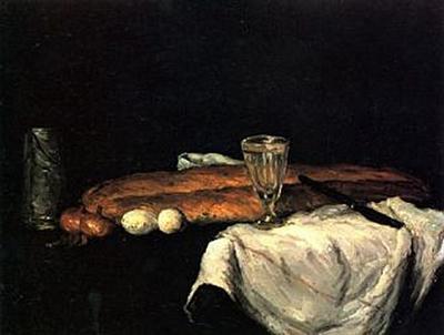 Paul Cézanne - Stilleben mit Brot und Eiern - 100 Teile (Puzzle)