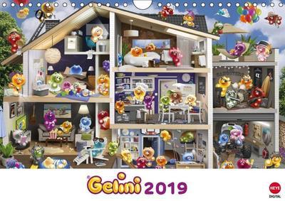 Gelini Posterkalender (Wandkalender 2019 DIN A4 quer)