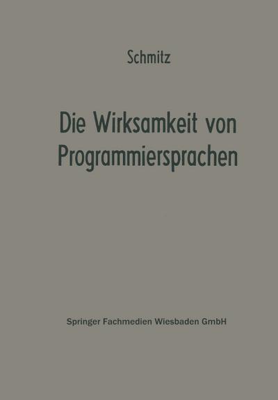 Die Wirksamkeit von Programmiersprachen