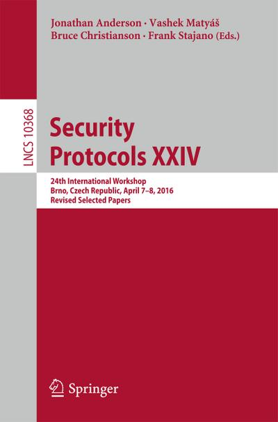 Security Protocols XXIV