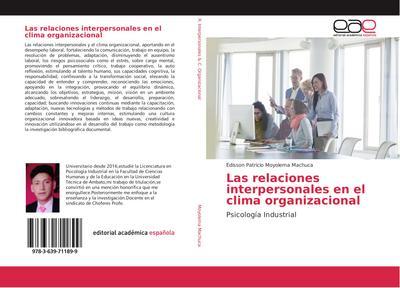 Las relaciones interpersonales en el clima organizacional - Edisson Patricio Moyolema Machuca