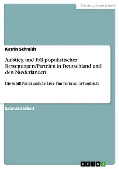 Aufstieg und Fall populistischer Bewegungen/Parteien in Deutschland und den Niederlanden