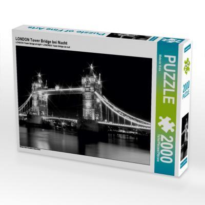 LONDON Tower Bridge bei Nacht (Puzzle)