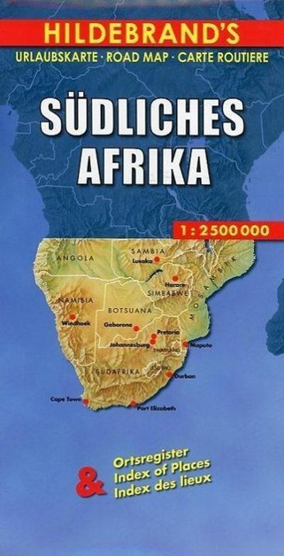 Hildebrand's Urlaubskarten, Südliches Afrika (Hildebrand's Africa / Indian Ocean Travel Map)