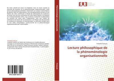 Lecture philosophique de la phénoménologie organisationnelle