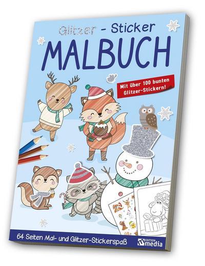 Glitzer-Sticker-Malbuch<BR>Winter