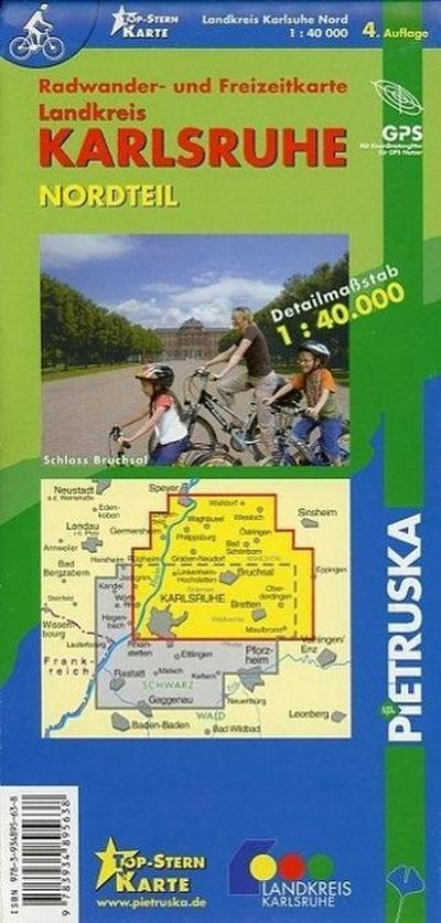 Landkreis Karlsruhe Nordteil: Radwander- und Freizeitkarte, Maßstab 1 : 40.000 - Pietruska - Landkarte, Deutsch, Pietruska Verlag, ,