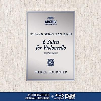 6 Suites for Violoncello, 2 Audio-CDs + 1 Blu-ray-Audio