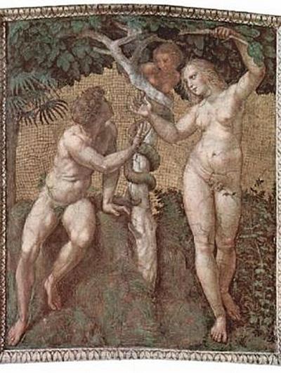 Raffael - Stanza della Segnatura im Vatikan für Papst Julius II., Deckenfresko, Adam und Eva - 200 Teile (Puzzle)