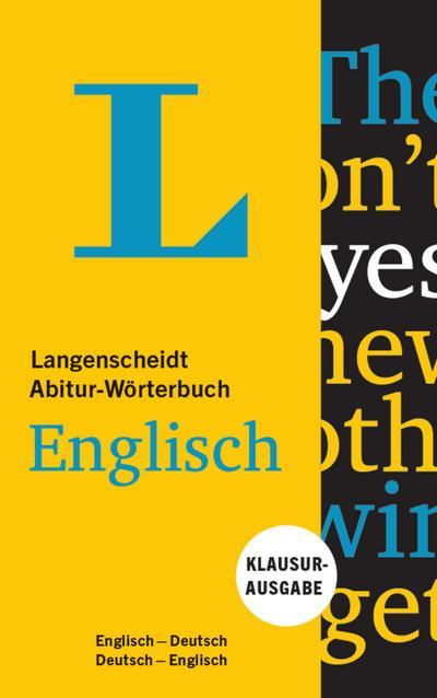 Langenscheidt Abitur-Wörterbuch Englisch - Buch und App