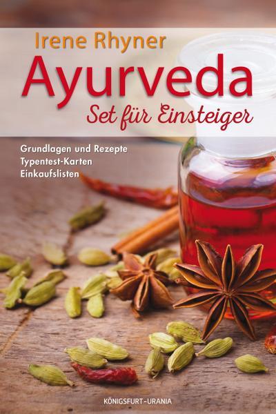 Ayurveda - Set für Einsteiger; Set mit Buch, Karten u. Einkaufslisten; Deutsch; durchgängig farbig