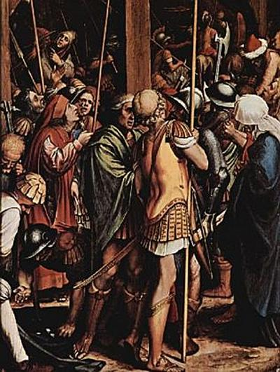 Hans Holbein d. J. - Passionsaltar, rechte innere Tafel, untere Szene: Kreuzigung, Detail - 100 Teile (Puzzle)