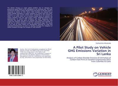 A Pilot Study on Vehicle GHG Emissions Variation in Sri Lanka